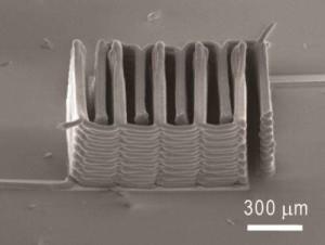 3D Printed Battery Tiny Battery (Image Credit: Ke Sun, Teng-Sing Wei, Jennifer A. Lewis, Shen J. Dillon)
