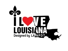I Love Louisiana Decal (Car Sticker)