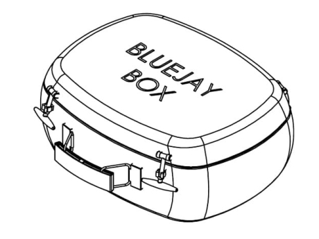 Bluejay Lunch Box. Product design, 3D & 2D CAD