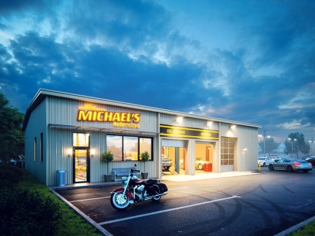 Artistic Architectural Renderings for Shane Michael's Automotive