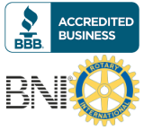A+ BBB Accredited Business, BNI, Rotary Club Member - LA NPDT