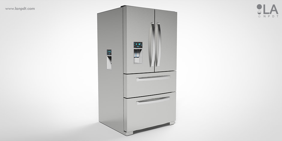 3D rendering, animation, 3D models, life-like 3D renderings of multi dispenser fridge developed by LA NPDT