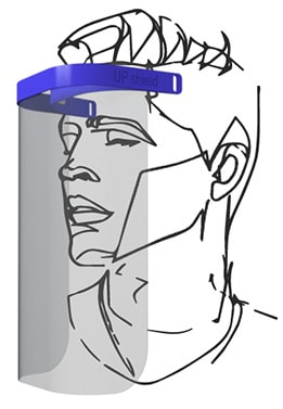 UP Shield, Face Shield Mask, COVID-19, LA New Product Development Team